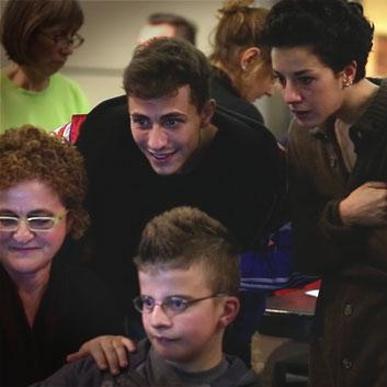 Edoardo e i ragazzi di Aterballetto