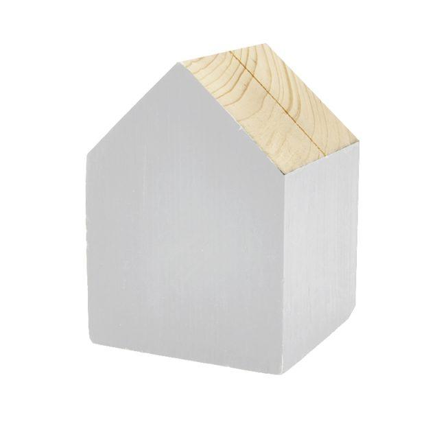 portafoto a forma di casetta in legno