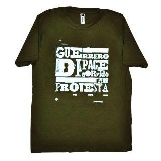 t-shirt bimbo con stampa serigrafica frase guerriero