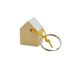 portachiavi in legno a forma di casetta
