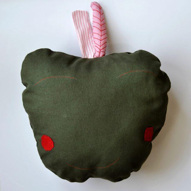 cuscino a forma di mela